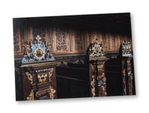 Postcard A5 – Seats at the castle church