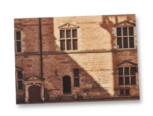 Postcard A5 – Brick wall in the castle courtyard