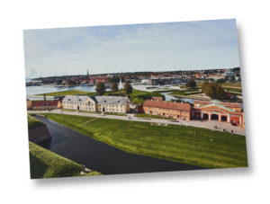 Postcard A5 – View from the top of Kronborg castle